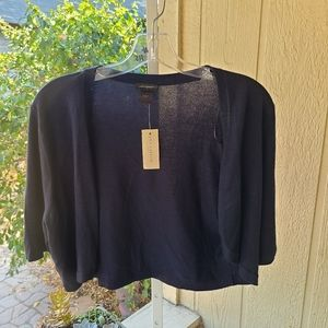 Ann Taylor Women's Navy Short Sleeve Cover Up | L